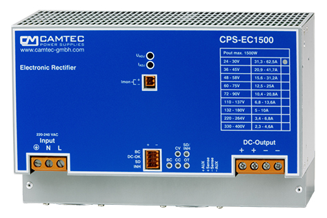 AC/DC DIN-Rail 1phase 10W     1500W | Camtec Power Supplies GmbH